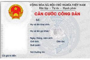 icon về giấy CMTND