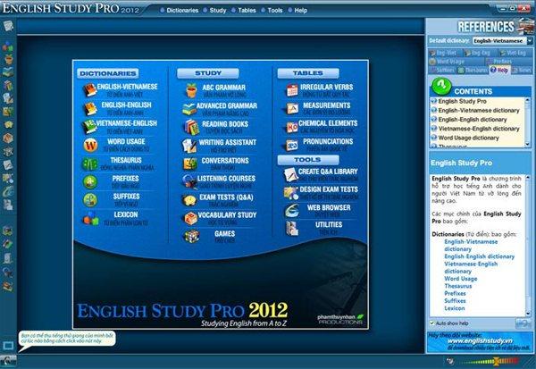 phần mềm học tiếng anh english study pro